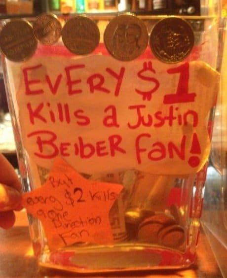 Justin Bieber Tip Jar 10