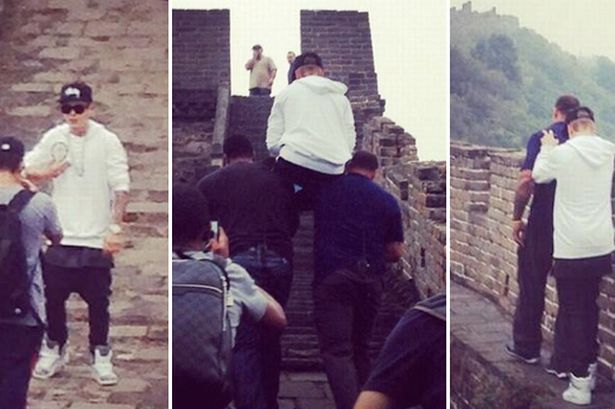 Bieber on Great Wall