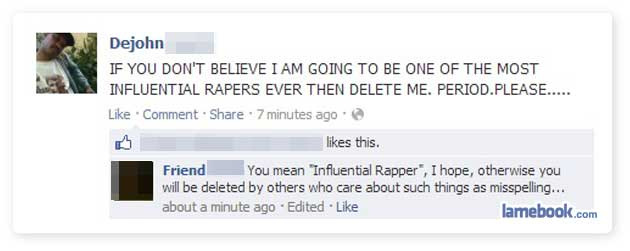 A Collection Of  Funny Facebook Statuses