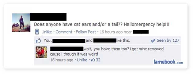 A Collection of 10 Funny Facebook Statuses