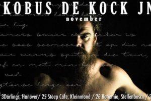 Kobus De Kock Jnr. November Tour details