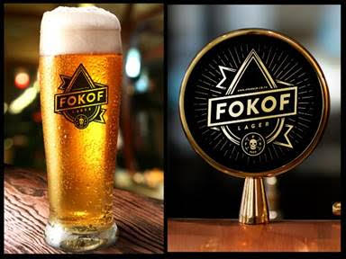 "Fokof-Lager It's time for an ice cold ""Fokof Lager"""