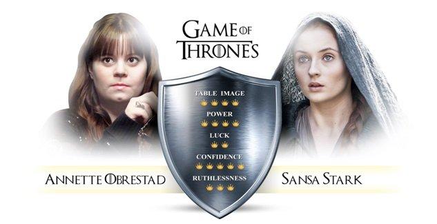 Sansa 6 Amazing Personalities Combined Between Games of Thrones and Poker