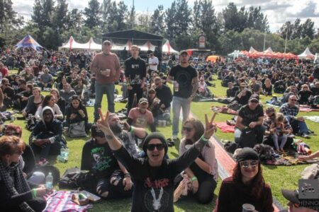 Crowd at Seether in Johannesburg