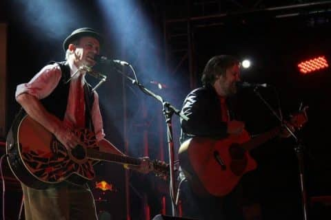 David Kramer and Francois van Coke on stage @ Oppikoppi Festival