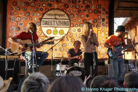 Die Tuindwergies on stage @ Oppikoppi 2012 Sweet Thing